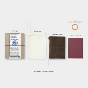 Traveler's Notebook Passport Size Brown notatnik brązowy
