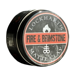 Lockhart's Fire & Brimstone Matte Clay glinka do włosów 105g