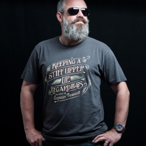 Captain Fawcett koszulka T-shirt Keeping a Stiff Upper Lip Regardless