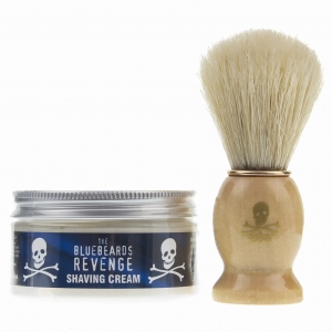 The Bluebeards Revenge zestaw do golenia pędzel i krem 100 ml BBRSCDBK