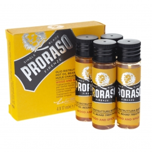 Proraso olejek do brody Beard Hot Oil Wood & Spice 4x17ml