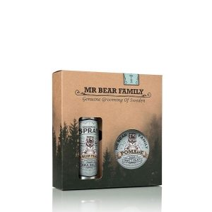 Mr Bear Family Kit Grooming spray Matt Clay pomade
